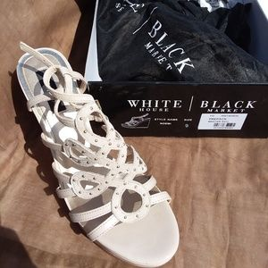 WHBM Neutral Embellished Wedge
